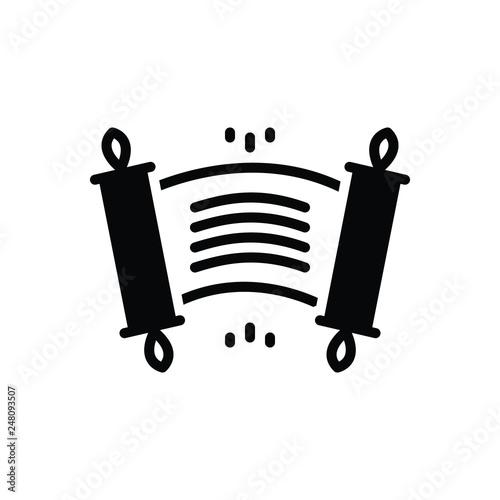Fotografie, Obraz  Black solid icon for edict ordinance