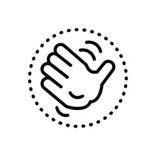 Black Solid Icon For Fap Palm