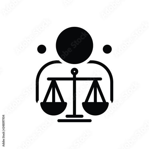 Fotografie, Obraz  Black solid icon for ethical