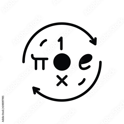 Black solid icon for euler Canvas Print