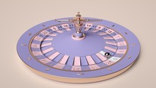 Colorful Roulette Wheel Isolat...