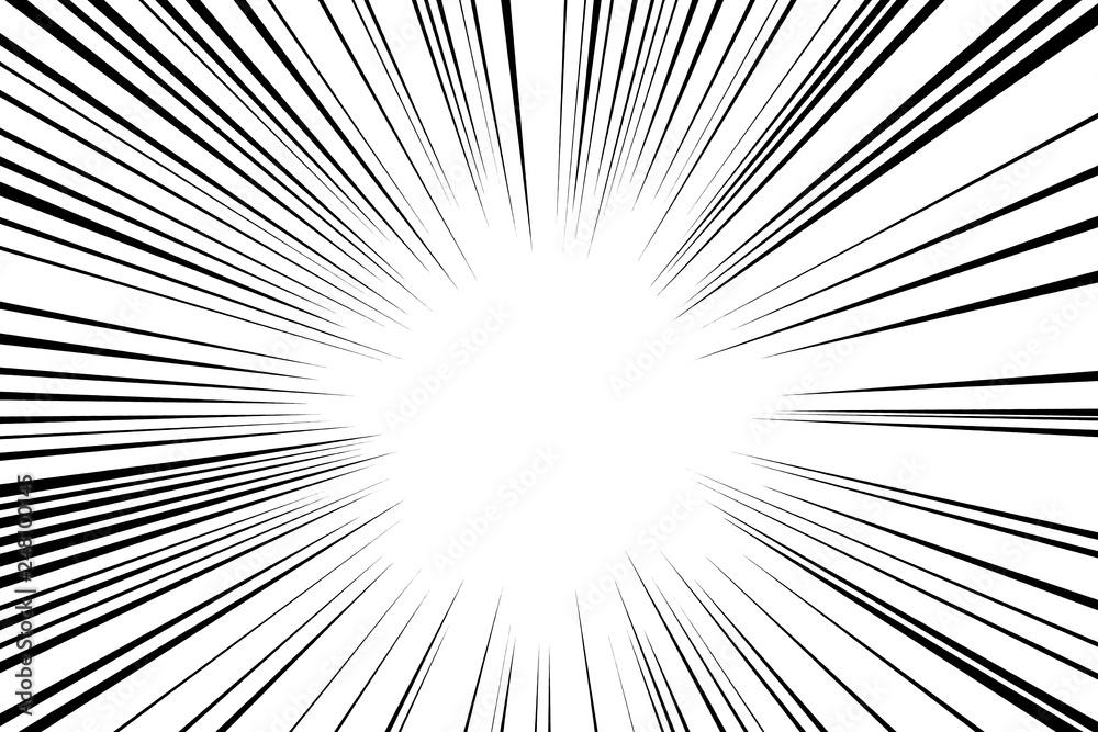Fototapeta Concentration line. Effect line. 集中線、効果線
