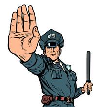 Police Officer Stop Gesture. I...