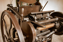 Antique Printing Press Renovated For Display