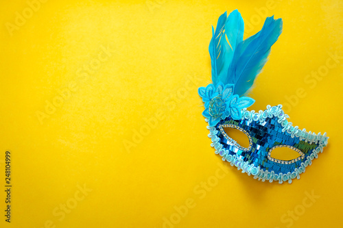 Table top view aerial image of beautiful colorful carnival season or
