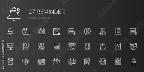 Fotografía  reminder icons set