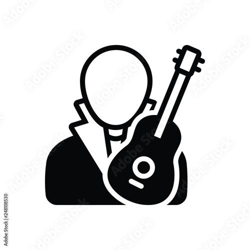 Fotografía  Black solid icon for composer music