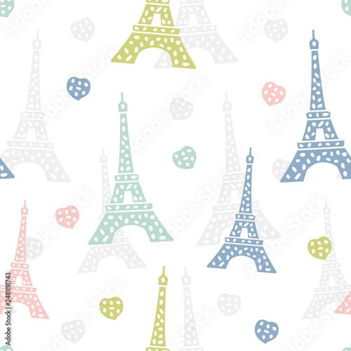 wzor-paryz-francuskie-tlo-z-wieza-eiffla-i-sercami