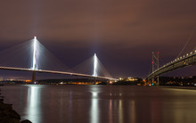 Queensferry Crossing And Forth Road Bridge