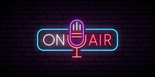 On Air Neon Sign. Retro Microp...