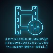 Sound Mixer Neon Light Icon