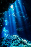 Caves of the Paradise reef at the Red Sea, Egypt