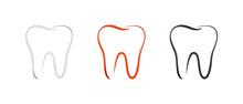 Teeth Set - Outline Vector Ill...