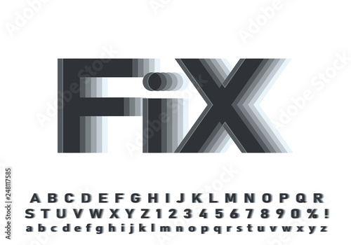 Fototapeta  Vector of modern abstract font and alphabet