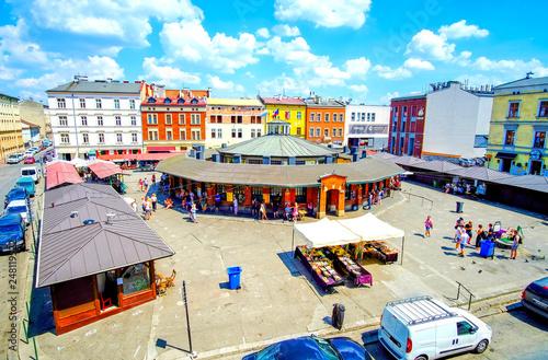 Fototapeta The central square in Kazimierz district, Krakow, Poland obraz