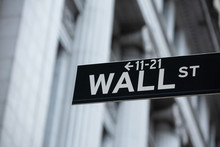 Wall Street Sign In New York C...