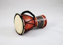 Wooden Handmade Drum Isolated On A White Background (chalice Drum, Debuka, Doumbek, Tablah)