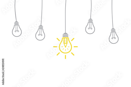 Photo  Idea Solution Concepts with Light Bulb