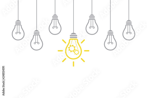 Photo  New Idea Solution Concepts with Light Bulb