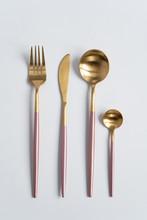 New Luxury Golden Cutlery View...