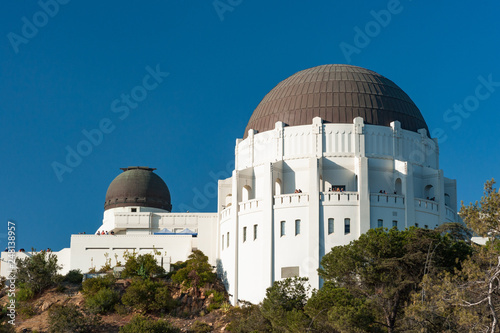 Fototapeta View of griffith park observatory in Los Angeles