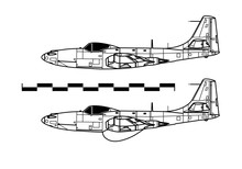 McDonnell FH-1 PHANTOM. Outline Drawing