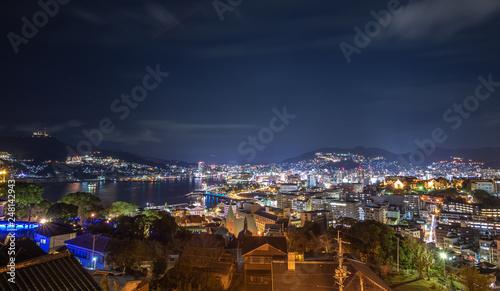 Poster Pleine lune 長崎の夜景