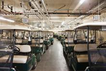 Golf Carts In Storage
