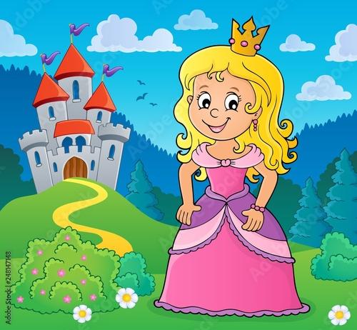 Fotobehang Voor kinderen Princess topic image 1
