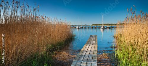Photo  Seglerhafen, Steg im Schilf, Insel Rügen, Mecklenburg-Vorpommern, Deutschland