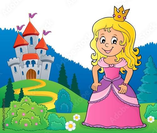 Fotobehang Voor kinderen Princess topic image 2