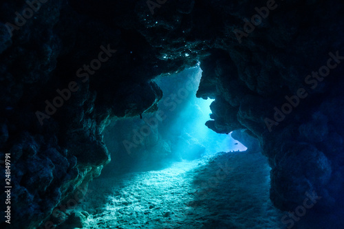 Caves of Claudia Reef at the Red Sea, Egypt Wallpaper Mural