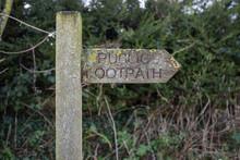 A Public Footpath Sign
