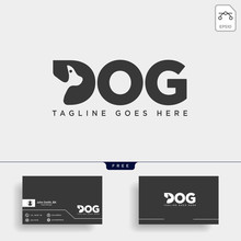 Letter D Dog Pet Animal Line A...