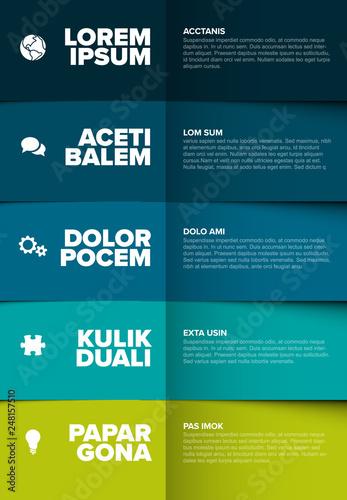 Obraz na plátně  Vector multipurpose Infographic template