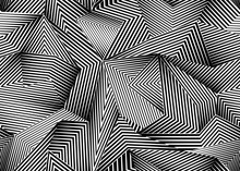 Abstract Seamless Pattern With Lines. Geometric Shapes. Vector Background