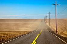 Highway Through Farmland