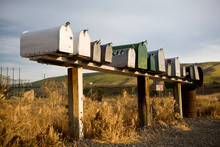 Row Of Mailboxes, Palouse, Was...