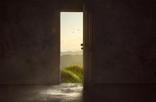 Tür Führt Zu Wunderschöner ...
