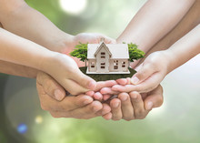 Home Loan, House Insurance, Family Assurance Protection, And Private Property Legacy Planning Concept