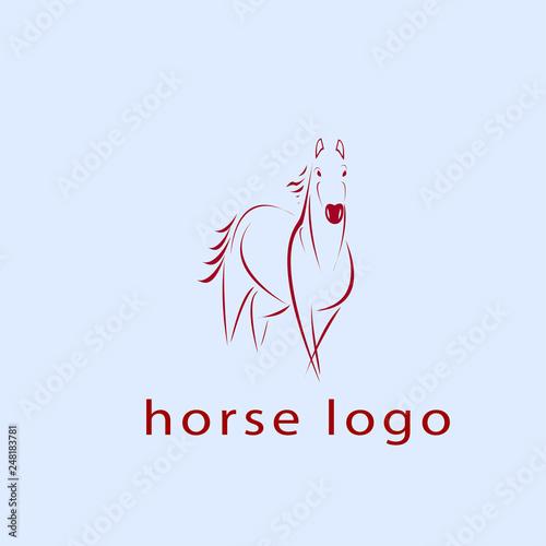 Foto  horse logo 2 art