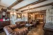 Leinwandbild Motiv Classic living room, wooden and stone