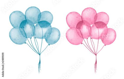akwarela-niebieskie-i-rozowe-balony-dla