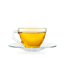Glass Cup Of Tea. Isolated On ...