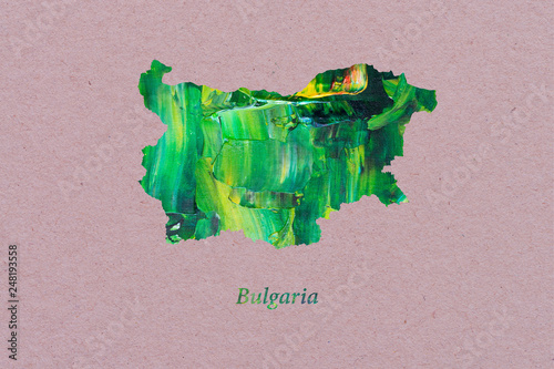 Artistic Map of Bulgaria Canvas Print