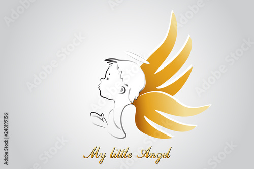 Foto Logo little angel praying