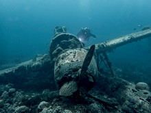 Jake Seaplane Wreck Underwater WW2 Relic With Diver