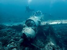 Jake Seaplane Wreck Underwater...
