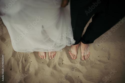 Fotografie, Obraz  stopy na piasku