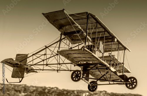 Vintage Bi-Plane Model airplane Canvas Print
